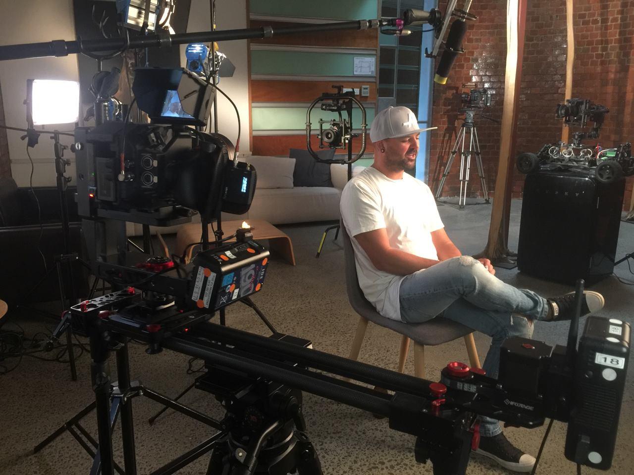 UltraSync ONE on set with Radar Kane and Con Filippidis
